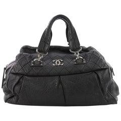 Chanel CC Soft Bowler Bag Aged Calfskin Medium