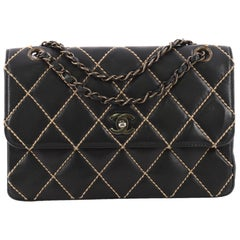 Chanel Surpique Flap Bag Quilted Leather Medium