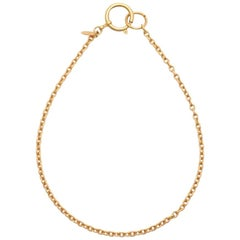 Chanel Vintage simple golden chain necklace