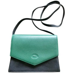 Longchamp Vintage Shoulder bag with changeable black green and red flaps