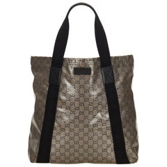 Gucci Brown x Black Guccissima Coated Canvas Tote Bag