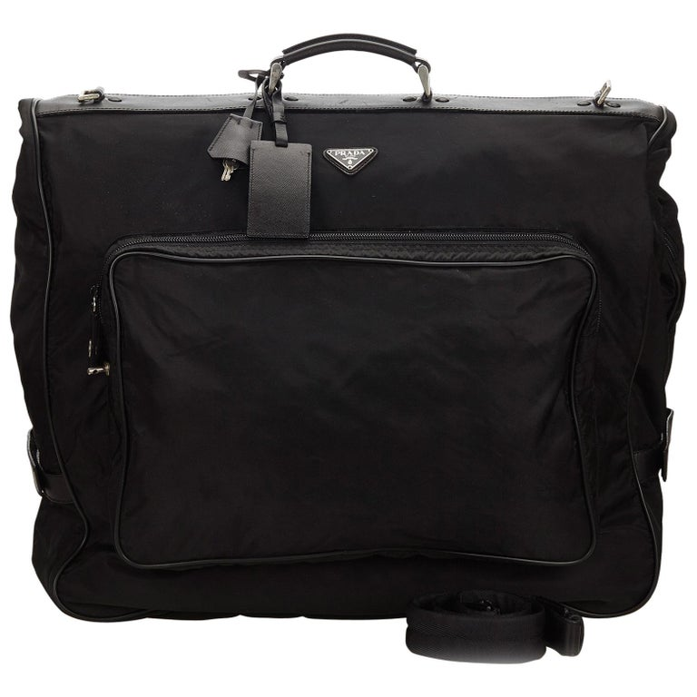 4e670e8b0221d4 Prada Black Nylon Garment Bag at 1stdibs
