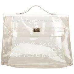 Hermes White Vinyl Kelly Bag