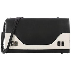 Prada Dual Flap Double Turn Lock Handbag Leather