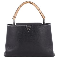 Louis Vuitton Capucines Handbag Leather and Python MM