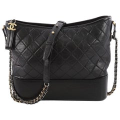 Chanel Gabrielle Hobo Quilted Aged Calfskin Large