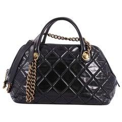 Chanel Castle Rock Bowler Bag Quilted Glazed Calfskin Medium