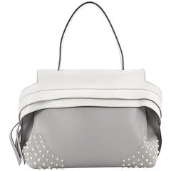 Tod's Studded Convertible Wave Bag Leather Small