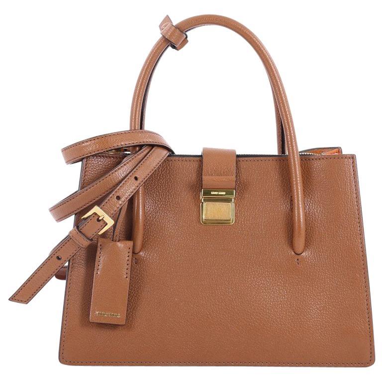 41e2da18d2ee Miu Miu Madras Convertible Compartment Top Handle Bag Leather Medium For  Sale