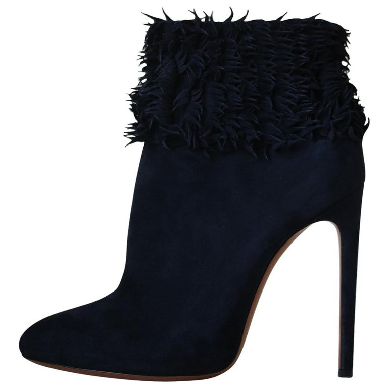 Azzedine Alaïa Fringe Suede Boots  For Sale
