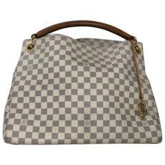 Louis Vuitton Damier Azur Artsy MM Hobo Shoulder Handbag