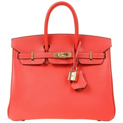 Hermès Rose Jaipur and Gold Bi Color Epsom 25 cm Birkin Bag