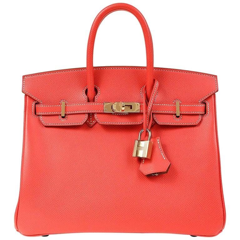Hermès Rose Jaipur and Gold Bi Color Epsom 25 cm Birkin Bag