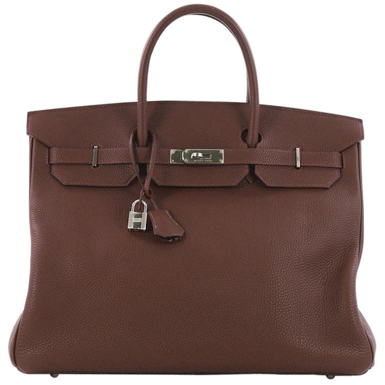 88d4abf06b5 Hermes Birkin Handbag Havane Brown Togo with Palladium Hardware 40