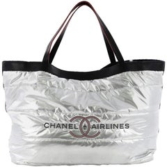Chanel Airlines Reversible Tote Terry Cloth Large