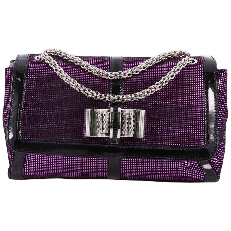 Christian Louboutin Sweet Charity Crossbody Bag Glitter Leather Small  For Sale