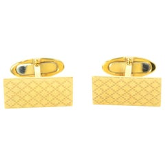 Gucci Men's Yellow Gold Diamantissima Cufflinks with Pillow