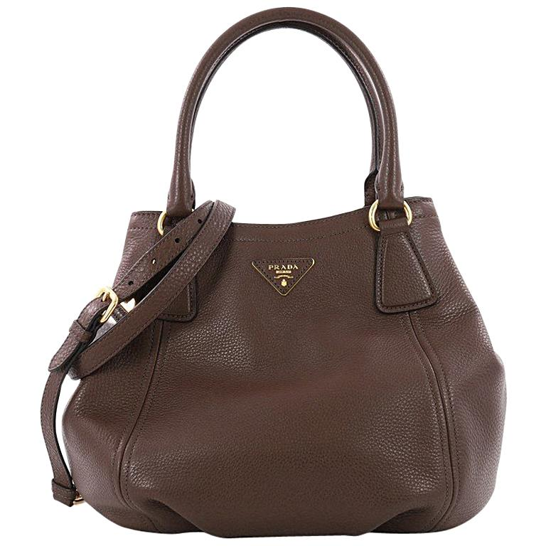 Prada Vitello Daino Medium Convertible Satchel at 1stdibs