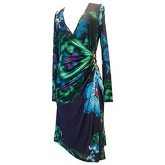"Roberto Cavalli Silk Jersey Wrap ""Snake"" Dress, 2002"