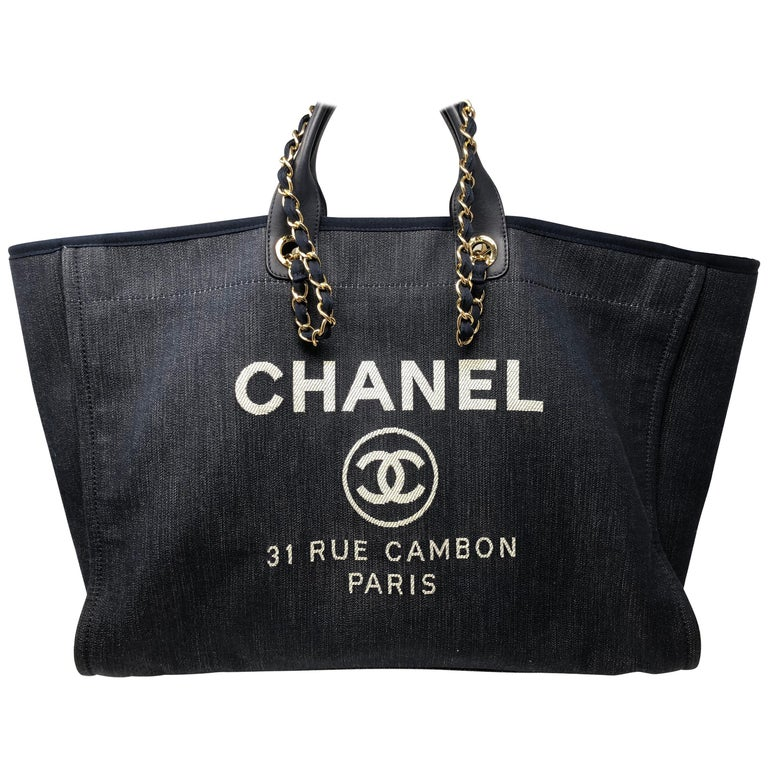 d7b4baa4013901 Chanel Deauville Tote XL Bag at 1stdibs