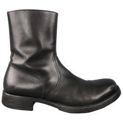 Miu Miu Black Leather Men's Ankle Boots Shoes