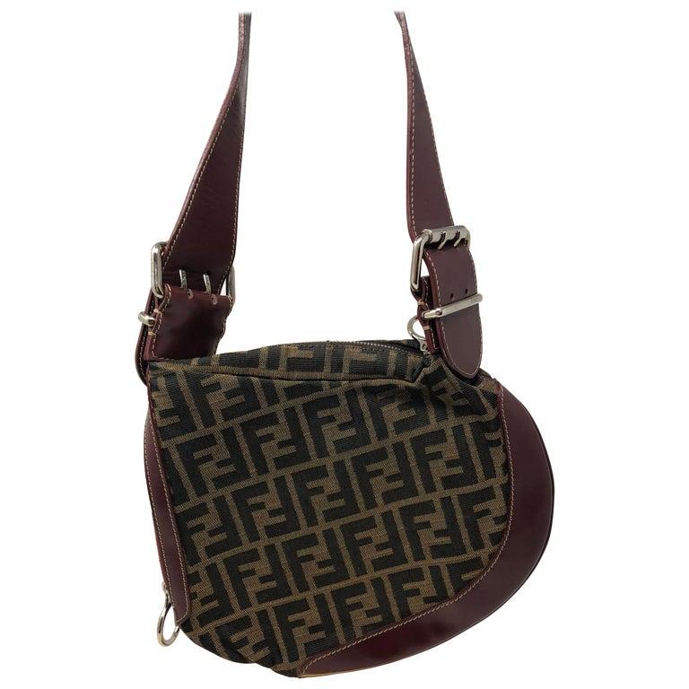 96475704e52f Fendi Monogram Saddle Bag For Sale at 1stdibs