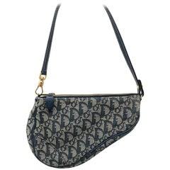 Christian Dior Monogram Denim Saddle Bag