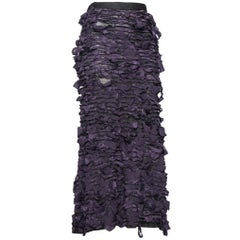 Yves Saint Laurent by Tom Ford Vintage Raw Ribbon Skirt, Fall 2001