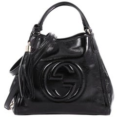 Gucci Soho Convertible Shoulder Bag Patent Small