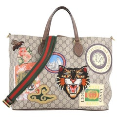 Gucci Convertible Courrier Soft Open Tote GG Coated Canvas