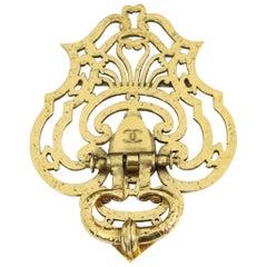 Nice Vintage Chanel Gold Plated 80's door knocker