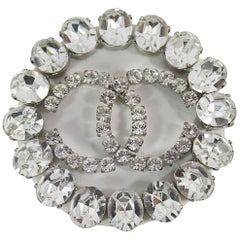 2000 Winter collection Chanel Swarosky Crystals Maxi brooche