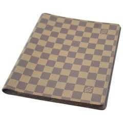 Louis Vuitton Damier Ebene Agenda / Notebook Cover.