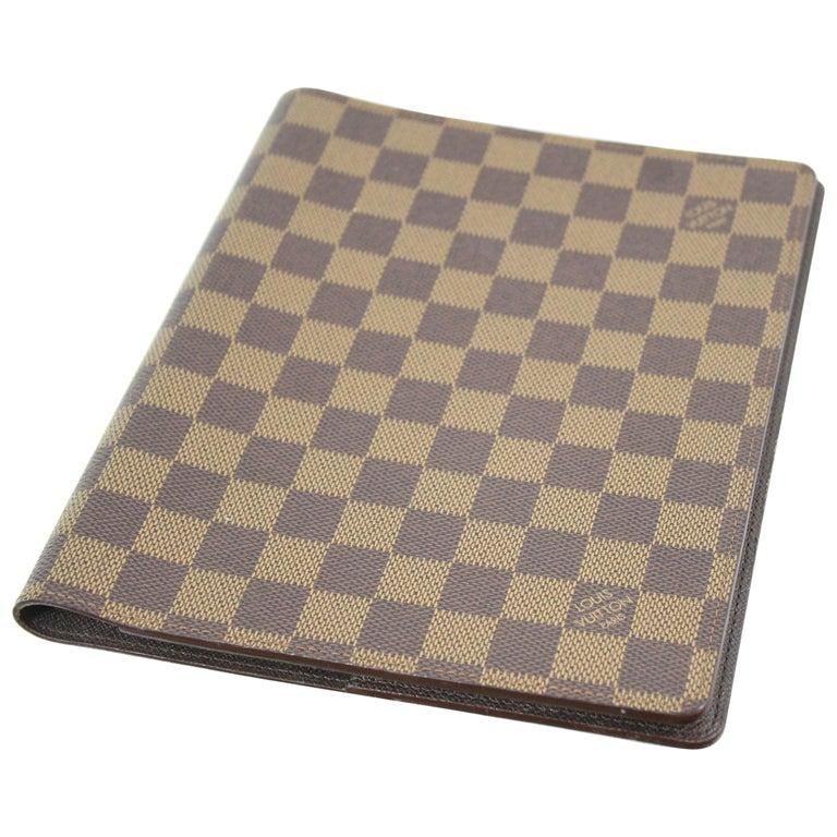 c6df54862b445 Louis Vuitton Damier Ebene Agenda   Notebook Cover. at 1stdibs