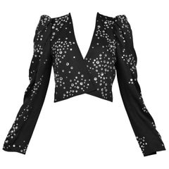 Yves Saint Laurent Rhinestone Studded Jacket, 1983