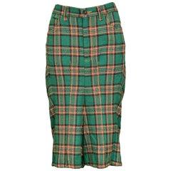 Junya Watanabe Green Tartan Shorts, 2004