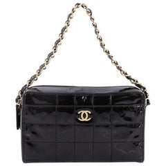 Chanel Chocolate Bar CC Camera Bag Quilted Patent Medium