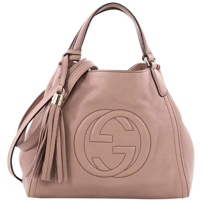 f01477eec5302a Gucci Soho Convertible Shoulder Bag Leather Small at 1stdibs