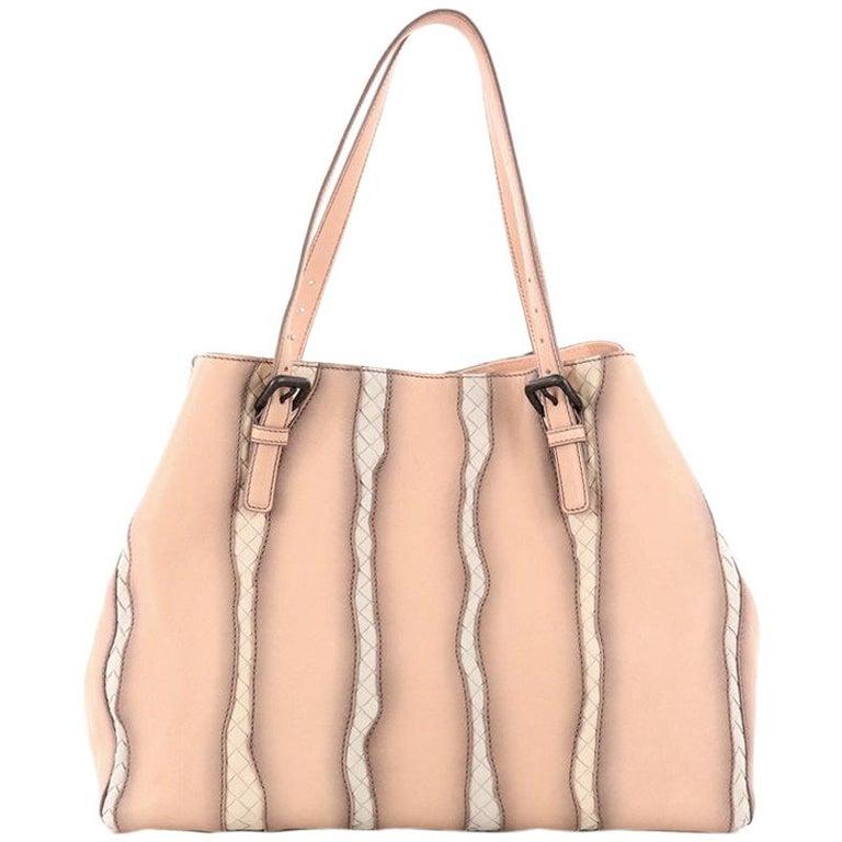42468ebbb Bottega Veneta A-Shape Glimmer Tote Washed Nappa Leather with Intrecciato  Detail For Sale