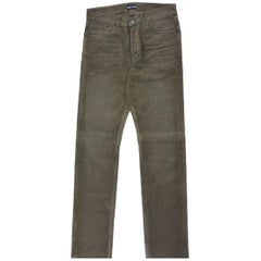 Tom Ford Mens Dark Brown Corduroy Straight Jeans