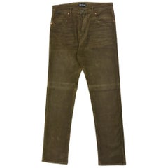Tom Ford Mens Dark Brown Corduroy Tapered Jeans