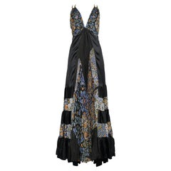 Balenciaga by Nicolas Ghesquière Black and Floral Halter Gown, 2007