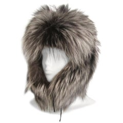Silver Tipped Fox Trapper Hat New, Never worn