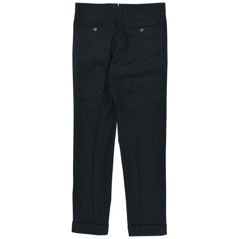 Tom Ford Men S Black Pleated Front Twill Trousers For Sale At 1stdibs