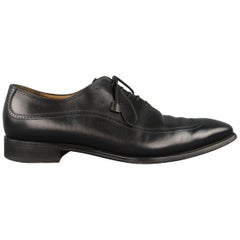 Franceschetti Dress Shoes - Black Leather Brogue Medallion Lace Up
