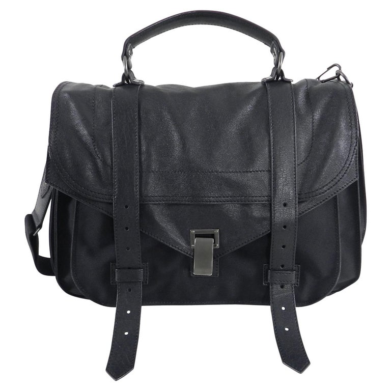 Proenza Schouler Ps1 Extra Large Black Leather And Nylon Bag For