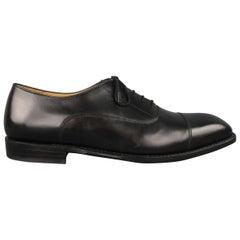 The Left Shoe Company Black Leather Cap Toe Lace Up Dress Shoes