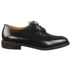CHURCH'S Size 13 Black Leather Lace Up Derbys