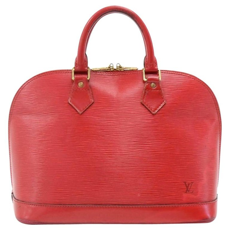 Vintage Louis Vuitton Alma Carmine Red Epi Leather Hand Bag