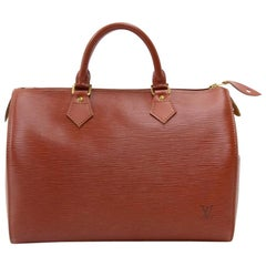 Vintage Louis Vuitton Speedy 30 Kenyan Fawn Epi Leather City Hand Bag
